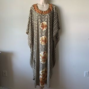 Dresses & Skirts - Vintage psychedelic acid trip silky caftan